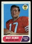 1968 Topps #186  Billy Kilmer  Front Thumbnail