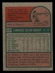 1975 Topps Mini #433  Larry Demery  Back Thumbnail