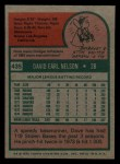 1975 Topps Mini #435  Dave Nelson  Back Thumbnail