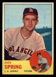 1963 Topps #572  Jack Spring  Front Thumbnail