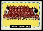 1964 Topps #88   Houston Oilers Team Front Thumbnail