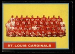 1962 Topps #150   Cardinals Team Front Thumbnail