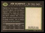 1969 Topps #176  Joe Scarpati  Back Thumbnail