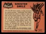 1966 Topps Batman Black Bat #27 BLK  Sinister Smile Back Thumbnail