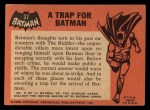 1966 Topps Batman Black Bat #37 BLK  Trap for Batman Back Thumbnail