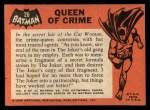 1966 Topps Batman Black Bat #26 BLK  Queen of Crime Back Thumbnail