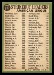 1967 Topps #237   -  Jim Kaat / Sam McDowell / Earl Wilson AL Strikeout Leaders Back Thumbnail