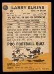 1967 Topps #49  Larry Elkins  Back Thumbnail