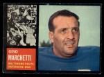 1962 Topps #8  Gino Marchetti  Front Thumbnail