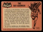1966 Topps Batman Black Bat #43 BLK  The Bat-Gasmask Back Thumbnail