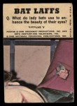 1966 Topps Batman Color #47 CLR  Penguin / Joker / Bruce Wayne Back Thumbnail