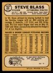 1968 Topps #499  Steve Blass  Back Thumbnail