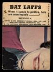 1966 Topps Batman Color #49 CLR  The Riddler Back Thumbnail
