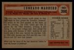 1954 Bowman #200  Connie Marrero  Back Thumbnail