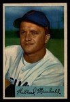 1954 Bowman #70  Willard Marshall  Front Thumbnail