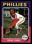 1975 Topps Mini #22  Dave Cash  Front Thumbnail