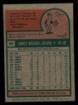 1975 Topps Mini #99  Mike Hegan  Back Thumbnail