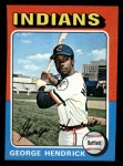 1975 Topps Mini #109  George Hendrick  Front Thumbnail