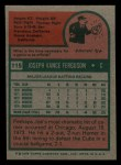 1975 Topps Mini #115  Joe Ferguson  Back Thumbnail