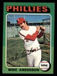 1975 Topps Mini #118  Mike Anderson  Front Thumbnail