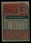 1975 Topps Mini #125  Ken Singleton  Back Thumbnail