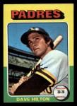 1975 Topps Mini #509  Dave Hilton  Front Thumbnail