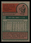 1975 Topps Mini #535  Gene Tenace  Back Thumbnail