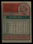 1975 Topps Mini #648  Dave Pagan  Back Thumbnail