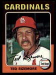 1975 Topps Mini #404  Ted Sizemore  Front Thumbnail
