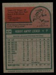 1975 Topps Mini #434  Bob Locker  Back Thumbnail