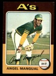 1975 Topps Mini #452  Angel Mangual  Front Thumbnail