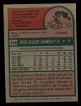 1975 Topps Mini #458  Ross Grimsley  Back Thumbnail