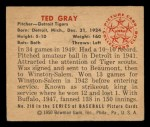 1950 Bowman #210  Ted Gray  Back Thumbnail