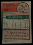1975 Topps Mini #341  Hal Breeden  Back Thumbnail