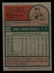 1975 Topps Mini #343  Danny Frisella  Back Thumbnail