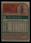 1975 Topps Mini #271  Jerry Moses  Back Thumbnail