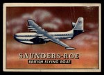 1952 Topps Wings #197   Saunders-Roe Front Thumbnail