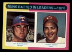 1975 Topps Mini #308   -  Johnny Bench / Jeff Burroughs 1974 Rookie Infielders   Front Thumbnail
