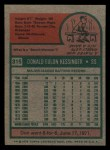 1975 Topps Mini #315  Don Kessinger  Back Thumbnail