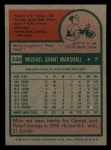 1975 Topps Mini #330  Mike Marshall  Back Thumbnail