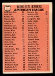 1966 Topps #218   -  Norm Cash / Tony Conigliaro / Willie Horton AL HR Leaders Back Thumbnail