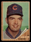 1962 Topps #191 GRN Jim Brewer  Front Thumbnail