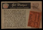 1955 Bowman #158  Gil Hodges  Back Thumbnail