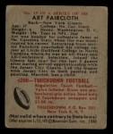 1948 Bowman #19  Art Faircloth  Back Thumbnail