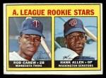 1967 Topps #569   -  Rod Carew / Hank Allen AL Rookies Front Thumbnail