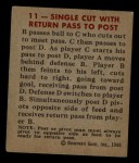 1948 Bowman #11   Return Pass to Post Play Back Thumbnail