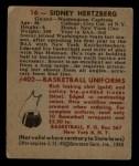 1948 Bowman #16  Sid Hertzberg  Back Thumbnail