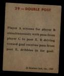 1948 Bowman #29   Double Post Play Back Thumbnail