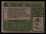 1974 Topps #175  Reggie Cleveland  Back Thumbnail