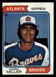 1974 Topps #439  Norm Miller  Front Thumbnail